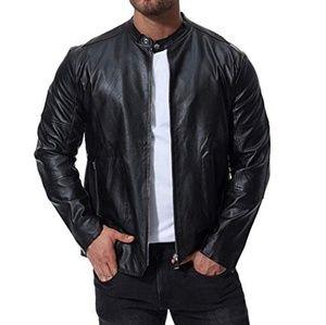 New Look Vegan Leather Jacket Size Mens